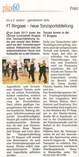 FT Ringsee neue Tanzsportabteilung